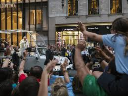pope usa parade
